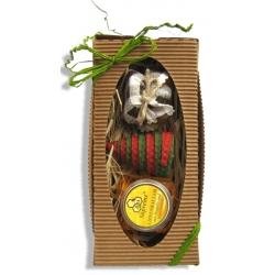 Darček- krabička /minimedík, balzam,sviečka/