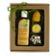 Darčeková kazeta /šampón, sviečka,minimedík,balzam/