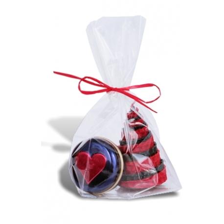 Darček /sviečka + balzam na pery/