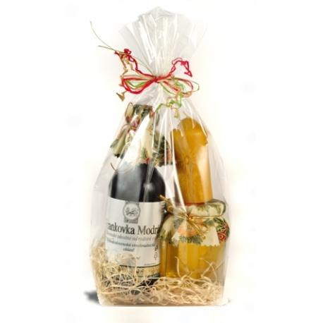 Darček /medík+sviečka+tokajské víno/