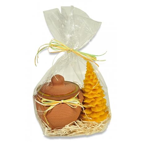 Balíček /med v keramike, stromček/