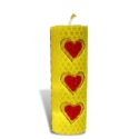 Sviečka vinutá valcovitá valentínska