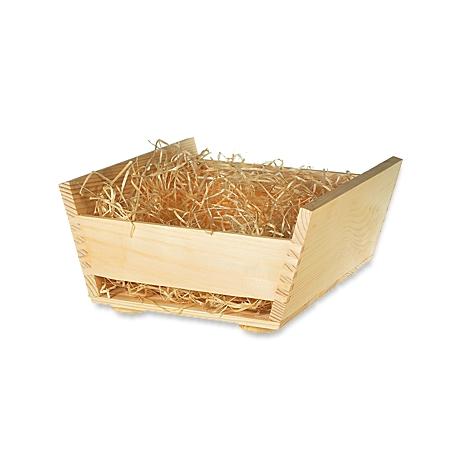 Drevená krabička široká + drevená vlna