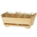 Drevený košík bez rúčky + drevená vlna