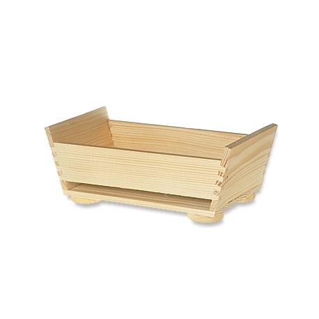 Drevený košík bez rúčky