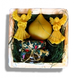 """Medová krabička """"DARY Z ÚĽA"""" štvorec"""