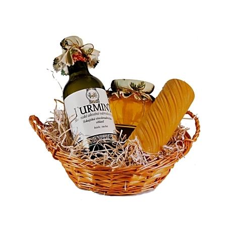 Darčekový košík s tokajským vínom I.