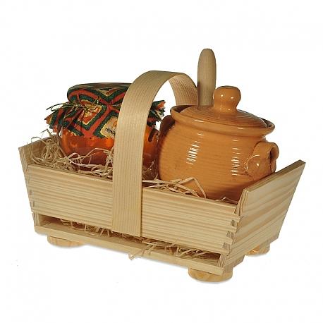 Med s keramickým medníkom