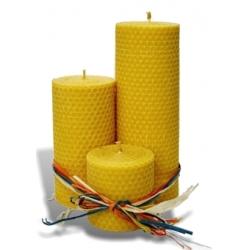 Sviečky vinuté valcovité - trojica