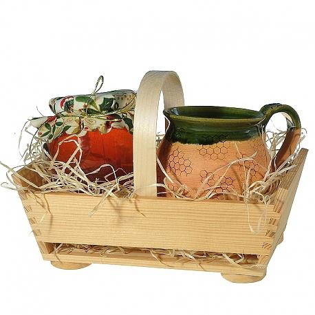 Med s ručnou keramikou-darčekový set