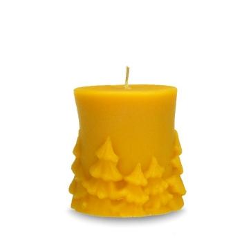 Sviečka valec s motívom lesa