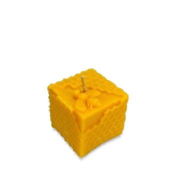 Sviečka kocka s včelou